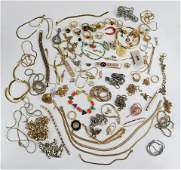 Lot of Gold and Silver Tone Costume Jewelry
