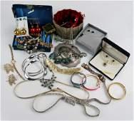 Mixed Lot Of Rhinestone and Costume Jewelry