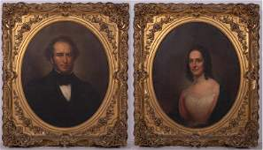 Rembrandt Peale Portraits of Mr. & Mrs. Richard C. Dale