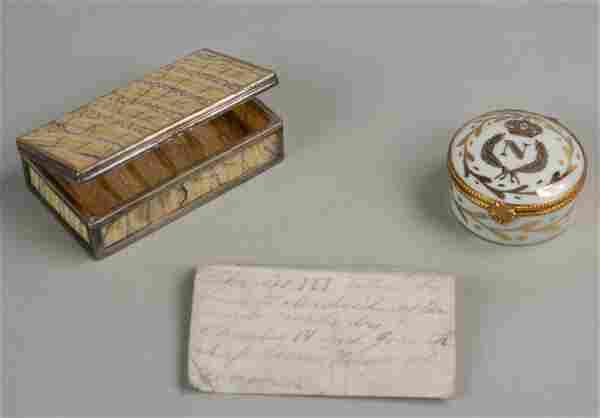 Joseph Bonaparte snuff box, Charles III, Charles IV