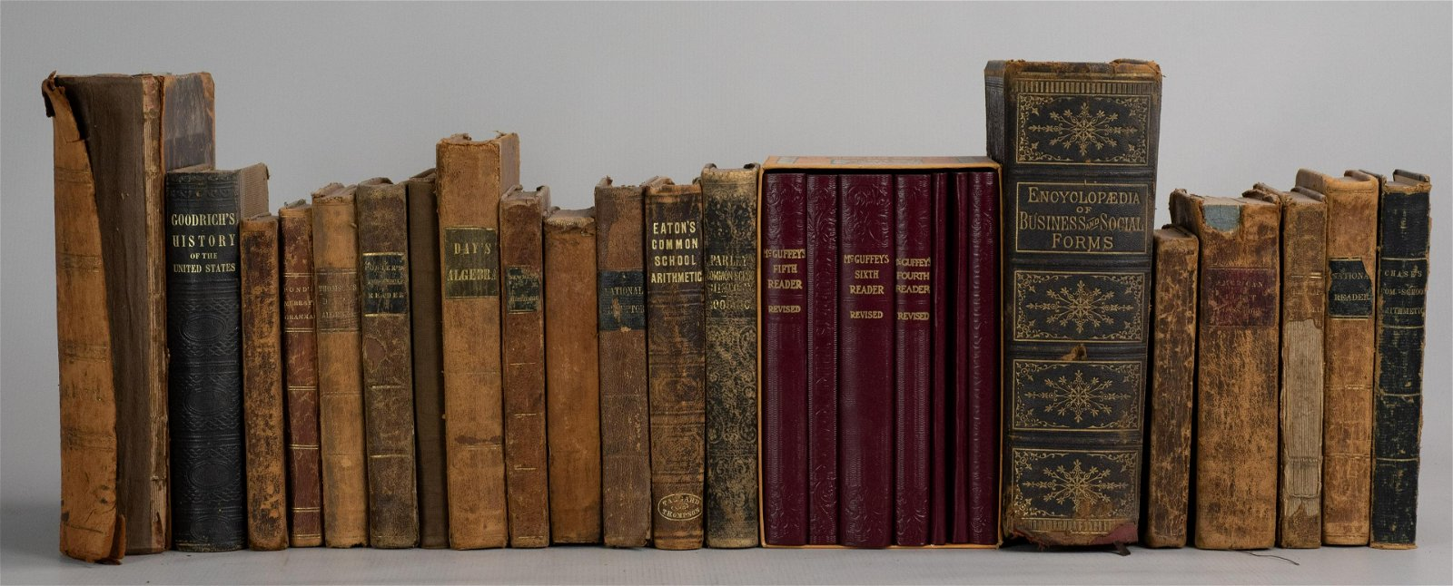 Group of (26) Antique School Books, Education,