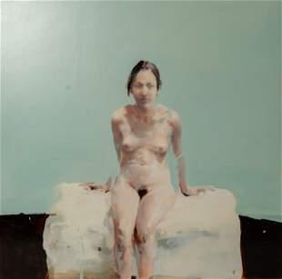 "Alex Kanevsky Painting ""Seated Female Nude"""