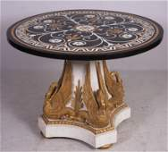 French Empire style Pietra Dura center table