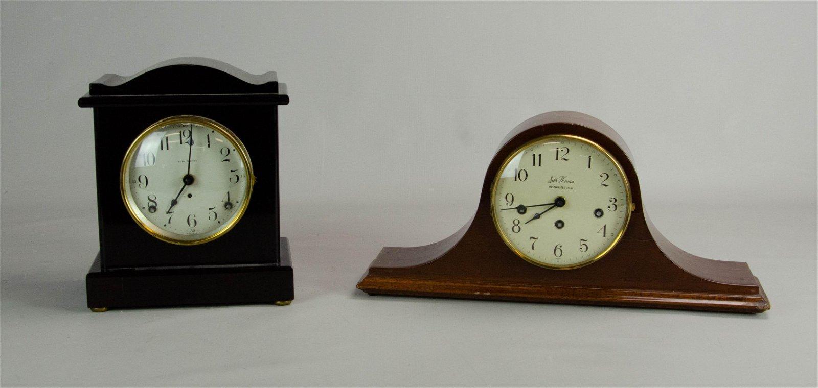 (2) Seth Thomas Mantel Clocks