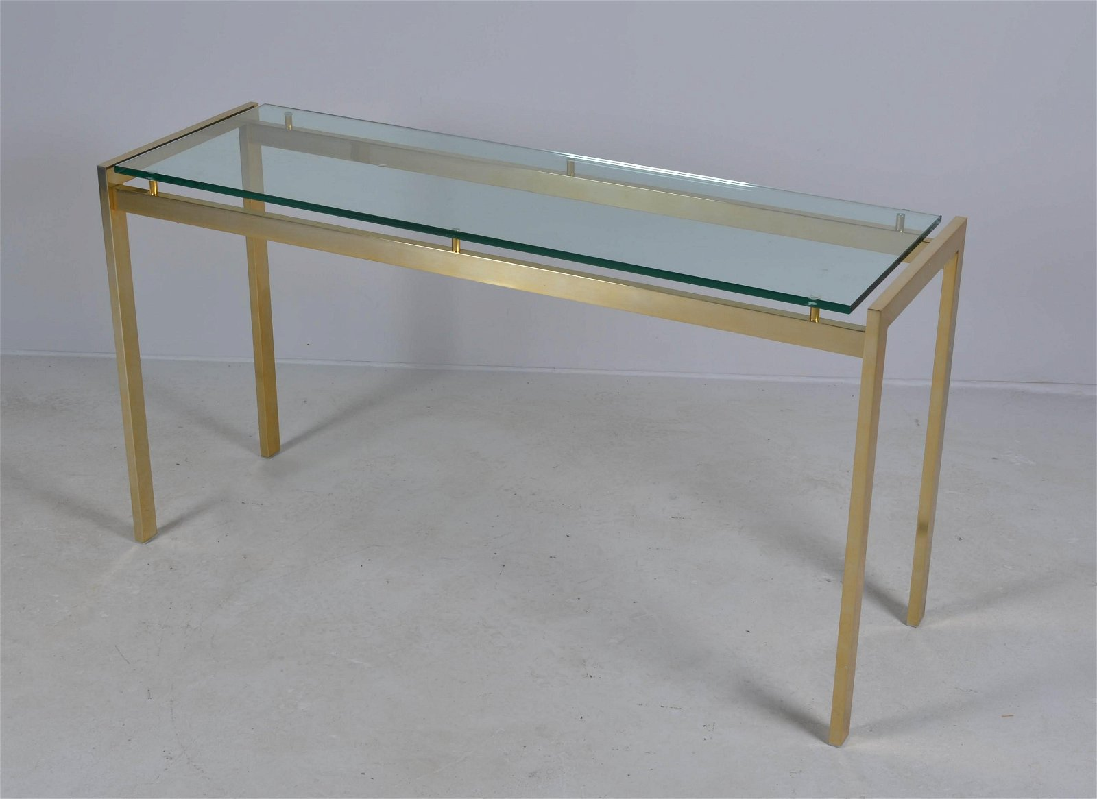 Modern Design glass top console table