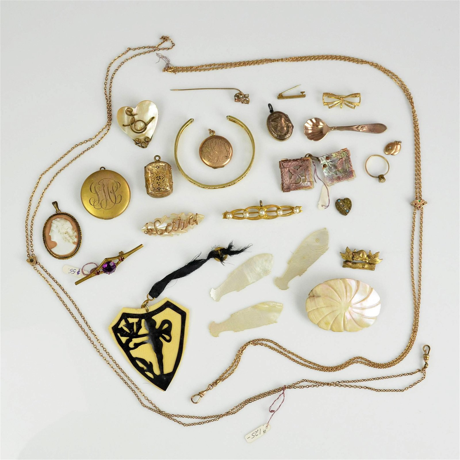 Gold Filled Victorian and Art Deco  Jewelry