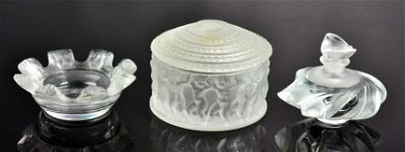 (3) Pcs Lalique Crystal