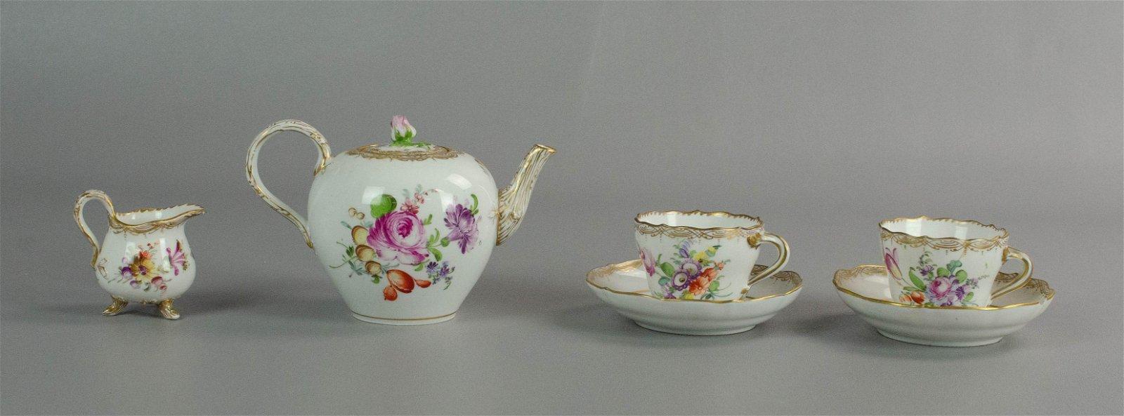 Meissen Porcelain Partial Tea Set
