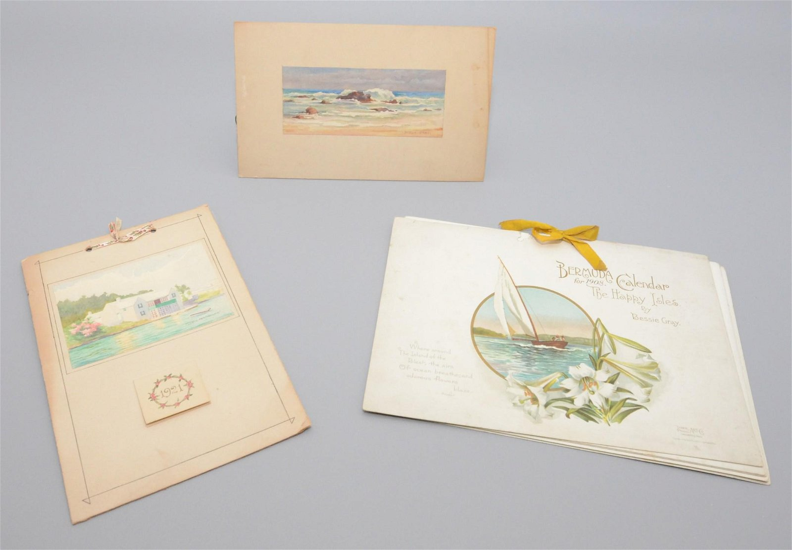 Bessie Gray, Mabel Rainsford, (2) Bermuda Watercolors