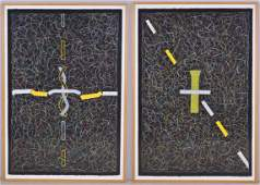 Philip Tsiaras (2) Abstract Expressionist Paintings