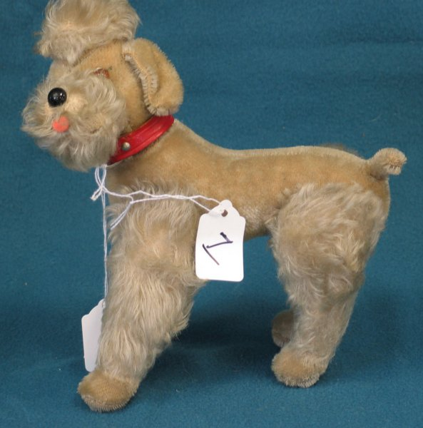 """7: 9"""" Poodle, """"Snobby"""", jointed, no tag, no button"""