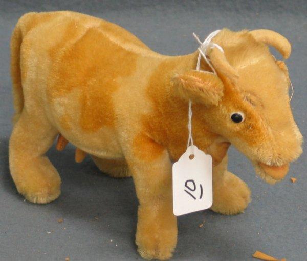 "10: 6 1/2"" x 10"" Cow, no tag, no button, ear loose"