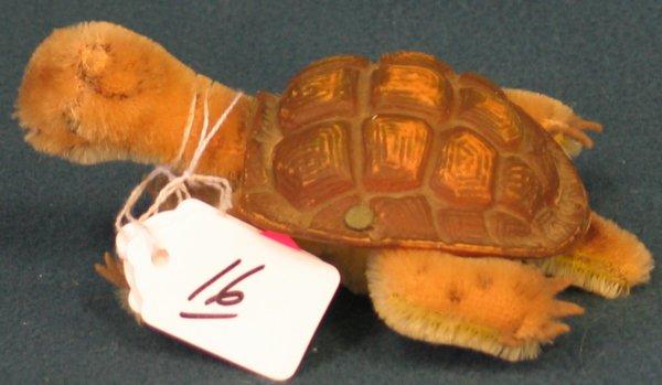 "16: 2 1/2 "" x 5 1/2"" Turtle, ""Slo"", rubber shell"
