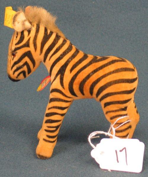 """17: 5 1/2"""" Zebra, no tail"""
