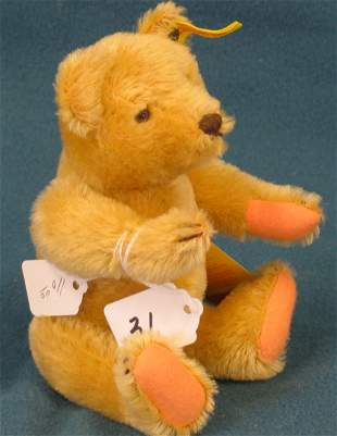 "9"" Teddy Bear, Golden, Jointed"