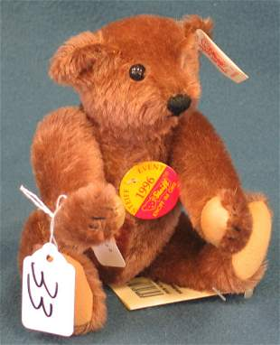 """8"""" Teddy Bear, """"1996 Event"""", Brown, Jointed"""