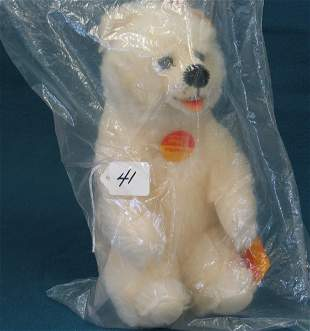 """10 1/2 """" Polar Bear, """"Mohair Soft"""", Jointed"""