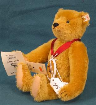 """12"""" Teddy Bear, """"Delighted"""", Jointed, Squeaker, w/c"""