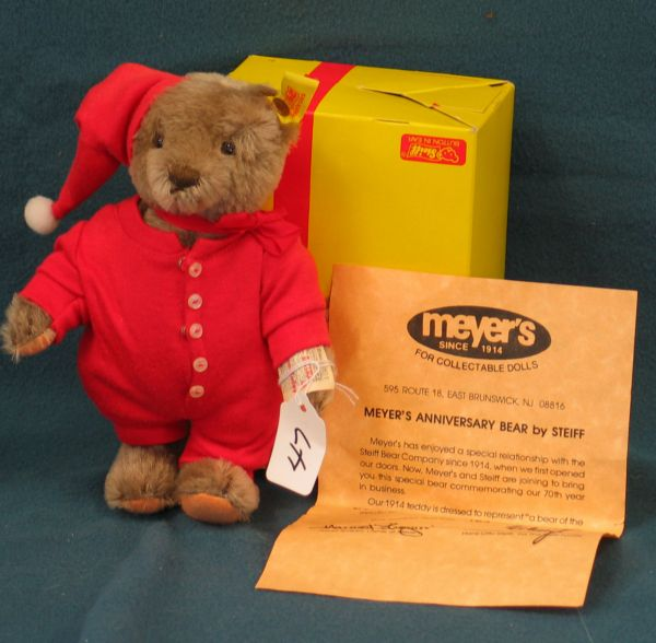 "7"" Teddy Bear, Meyer's Anniv. Bear, Jointed, w/box"