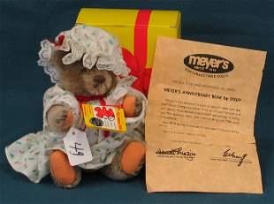 "7"" Teddy Bear, Meyer's 1914 Anniversary Bear, Joint"
