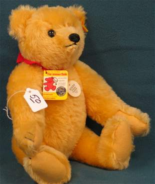 """14"""" Teddy Bear, Reproduction of 1909 Golden, Jointe"""