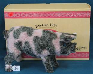"""Pig, """"Schwien"""", 1995 Reproduction of 1926 toy w/box"""