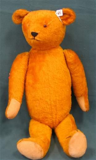 "29"" Teddy Bear, Golden, 1 glass eye, growler broken"