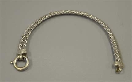 14K Diamond Woven Mesh Bracelet
