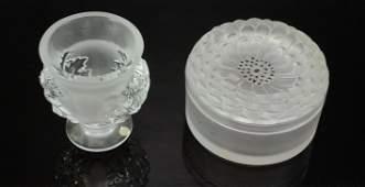 (2) Pcs Lalique Crystal