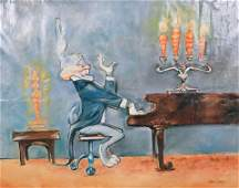 "Chuck Jones Giclee ""Bugs at Piano"""