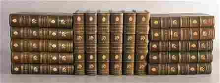 (16) Volumes J. Fenimore Cooper Novel Set