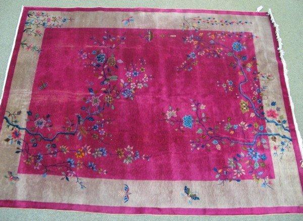 7: 8.8 x 11.6 Burgundy Nichols Chinese rug