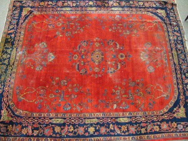 10: 10.8 x 12.8 signed Persian carpet
