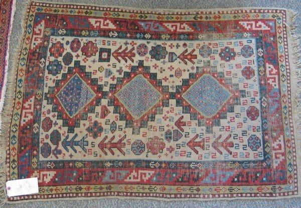12: 3.4 x 4.0 Turkish throw rug