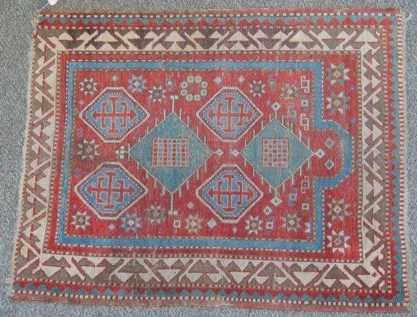 14: 3.0 x 3.6 Turkish prayer rug