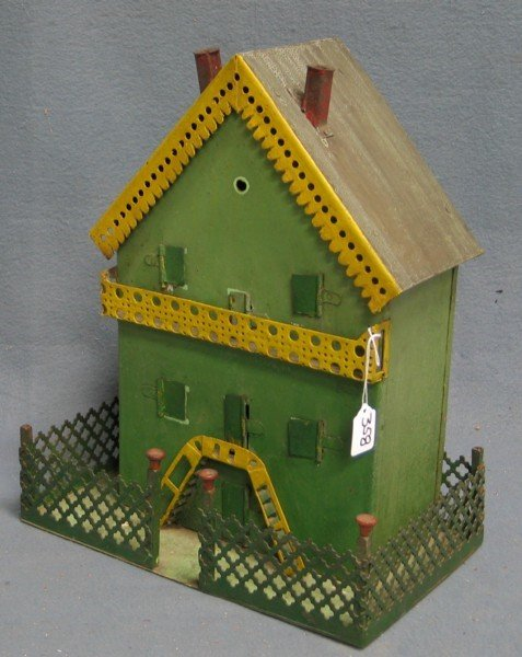 357: Erector set Folk Art Bavarian cottage