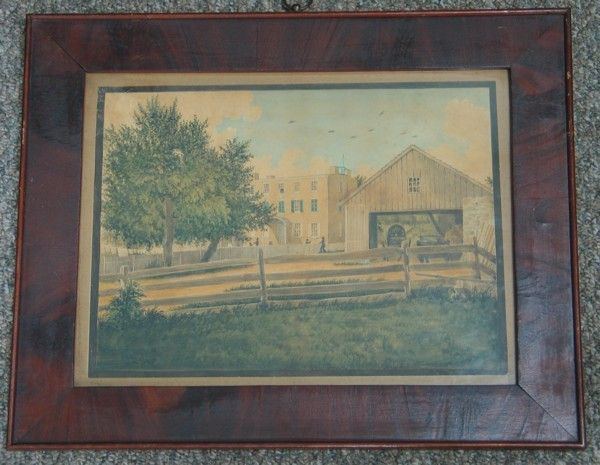 "508: Primitive American School, 19th C., 10 1/2"" x 14"""