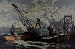 Laurence A Campbell, American, 20th c, oil on canvas