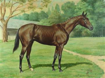 "Edward Herbert Miner Equestrian Ptg ""Sysonby"""