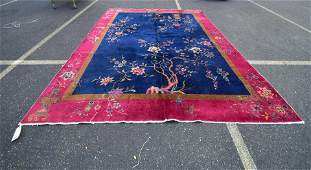 "9'1"" x 11'7"" Chinese Art Deco Rug"