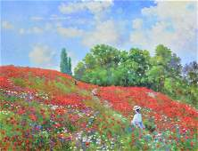 """Claude Cambour """"Les Coquelicots a Giverny"""""""