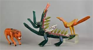 3 Mexican Folk Art Animals