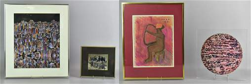 (4) Artworks by Contemporary Artists