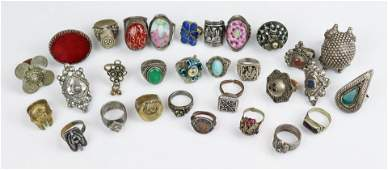 (30) Pc Lot of World Tribal Ethnic Rings