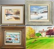 (4) Contemporary Landscape Paintings