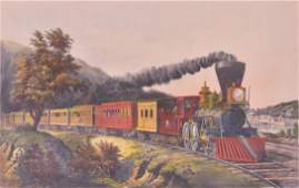 Currier  Ives American Express Train