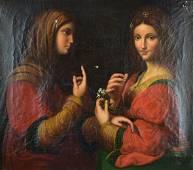 """After Bernardino Luini """"An Allegory of Modesty"""""""