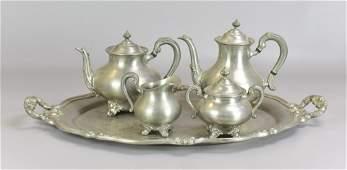 Reed  Barton Pewter Tea Set