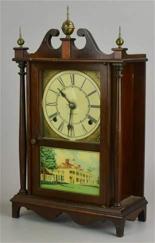 Seth Thomas Kingsbury Pillar and Scroll Shelf Clock