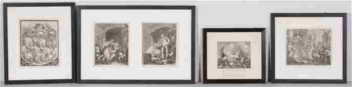 4 William Hogarth Engravings